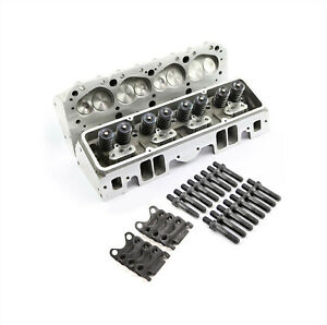 Sbc Fit Chevy 350 Complete Straight Aluminum Cylinder Heads 220cc 64 Studs G