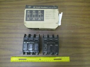 General Electric two Thqc32100wl Circuit Breakers 3 Poles 100 Amp 240 Volts