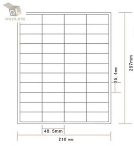 Amazon Fba Label 500 Sheets 22 000 Labels 44 up Labels 48 5 25 4mm On A4