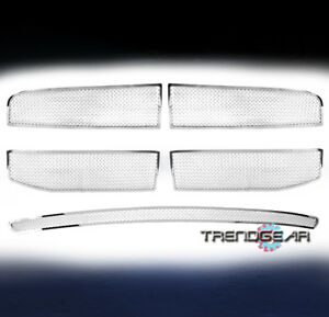2006 2008 Dodge Ram 1500 2500 3500 Front Top bumper Mesh Stainless Grille Chrome