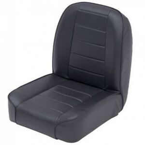 1955 1977 Cj7 Cj5 Replacement Low Back Bucket Seat Jeep 44801 Black Vinyl