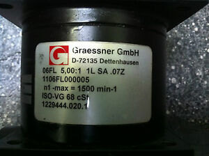 Graessner Gmbh Right Angle Gearbox D 72135 5 1 1106fl000005