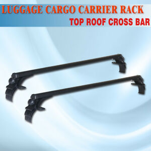 48 Universal Car Ajustable Suv Roof Rack Top Rail Luggage Cargo Carrier M08