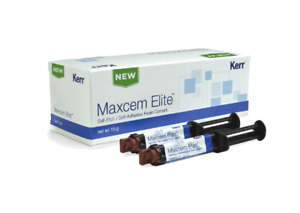 Kerr Maxcem Elite Self etch Self adhesive Resin Cement Shade White Dental