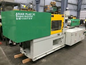 165 Ton 10 Oz Asian Plastic Sm 150tsv Injection Molding Machine Engel Milacron
