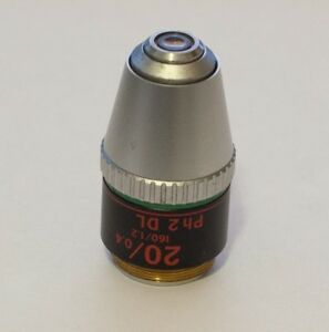 Nikon Microscope Objective Cf Ph2 Dl 20x 0 40 160 1 2 Phase Contrast Diaphot