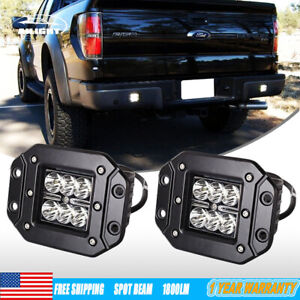 2x 4 Flush Mount Projector Led Lights Fit Ford Toyota Gmc Truck Off Road Atv