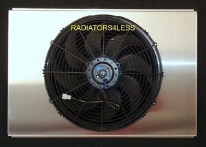 Aluminum Radiator Fan Shroud 16 Fan Gm Cars Trucks Chevy Camaro 26 Wide Core