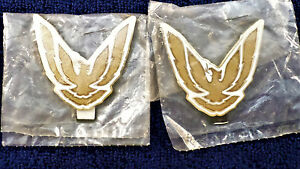 1987 92 Pontiac Firebird Trans Am Sail Panel Emblems Oem Nos gold White 2