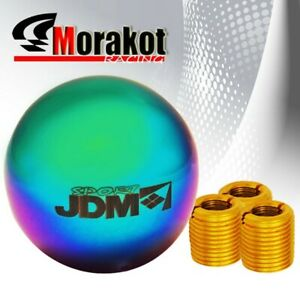 Jdm Sport Universal Manual Mt Heavy Duty Round Shift Knob M8 M10 M12 Neo Chrome