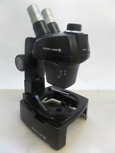 Bausch And Lomb 31 26 84 Trans illuminator Microscope Base With 1x 2 5x Head