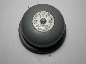 Vtg Edwards Company Model 340 Adaptabel Alarm Audible Signaling Bell Wall Mount