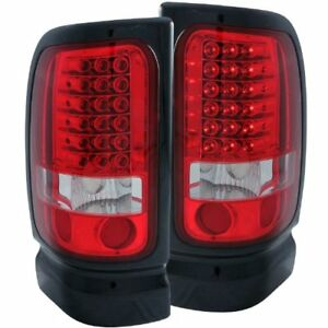 Anzo 311052 1994 2001 Dodge Ram Led Taillights Red Clear