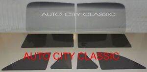 Chevy Coupe Glass 1941 42 46 47 48 2pc Windshield Vent Door Quarter Grey