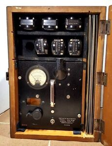 Vtg General Radio Precision Wavemeter Model 724a W Coils Calibration Charts