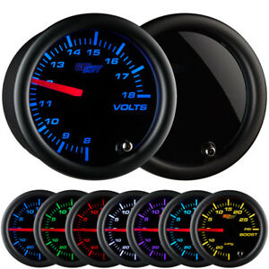 2 1 16 Glowshift Tinted Volt Voltage Gauge W 7 Color Led Display