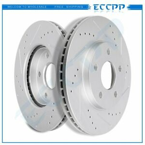 Front Brake Rotors Drilled Slotted For 2006 2007 2008 2009 2010 2011 Chevy Hhr