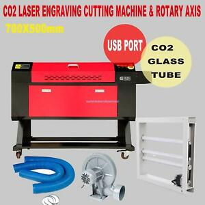 100w Laser Engraving Cutting Machine Co2 Engraver Cutter W Regualr Rotary Axis