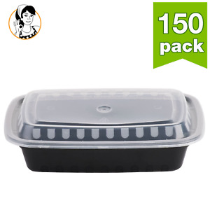 150 Food Storage Meal Prep Container Take out Plastic Box Reusable Microwavable