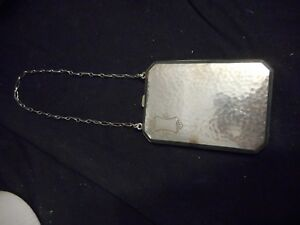 Vintage Sterling Silver Coin Purse Compact Hammered Finish 94 2 Grams
