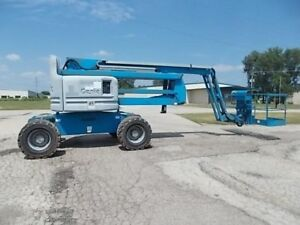 2007 Genie Z 60 34 Boom Man Lift Diesel 1100 Hours Well Maintained Illinois