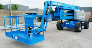 2006 Genie Z 60 34 Boom Man Lift Diesel 3441 Hours Well Maintained Indiana