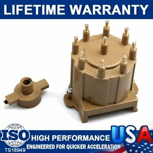 Carbole Ignition Distributor Cap And Rotor Kit 8132 Hei Male Tan For Chevy