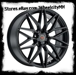 18 Inch Satin Black Revolution Racing Rr18 Wheels Fusion Mustang Flex 5x4 5 40