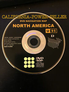 U95 Update For 2010 2011 2012 2013 Toyota 4runner Navigation Dvd U s Canada Map