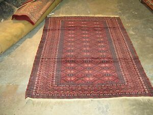 Antique Tekke Turkoman Bokhara Yomut Hand Knotted Wool On Wool Rug 4 2 X 5 9