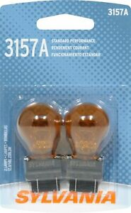 Sylvania 3157 Incandescent Amber Miniature Turn Signal Bulb 3157a Pack Of 2