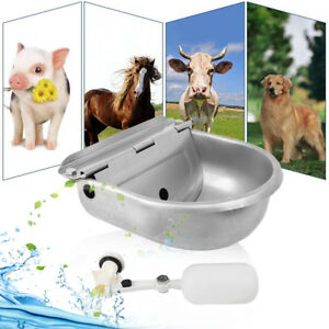 Automatic Waterer Bowl Farm Grade Horse Goat Sheep Pig Dog Waterer Stainless