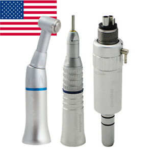 Dental Slow Low Speed Handpiece Kit 4 Hole Push Contra Angle Air Motor Nsk Style