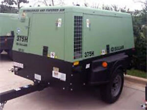 2010 Sullair 375hdpq jd Compressor 2868 Hours Diesel Indiana
