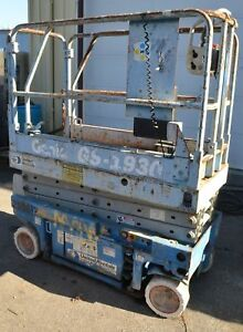 2000 19 Genie Gs 1930 Electric Scissor Manlift Aerial Lift Man Work Platform