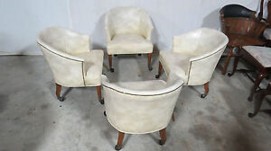 Set Four Club Library Ofifice Chairs