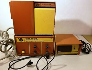 Used Gilson fl 1a Fl 1b 3304 spectra Glo Filter Fluorometer Fires Up