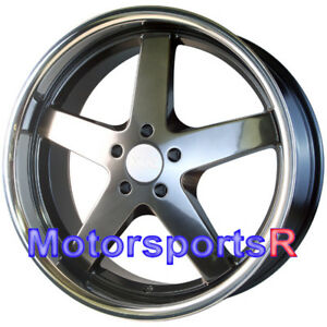 Xxr 968 Wheels Chromium Black Deep Lip 17 35 Rims 5x114 3 Stance 15 Scion Xb Z