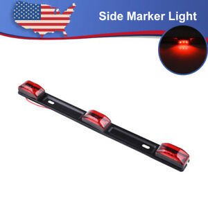 Clearance Red 14 Id Bar Marker 3 Light 9 Led Trailer Sealed Stainless Steel 12v