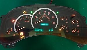 Red Led 03 04 Cadillac Escalade Yukon Reman Instrument Cluster 0 Miles 50 Back