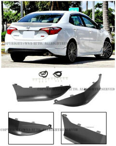 For 14 16 Toyota Corolla Sedan Sport Style Rear Bumper Splitter Lip Spoiler