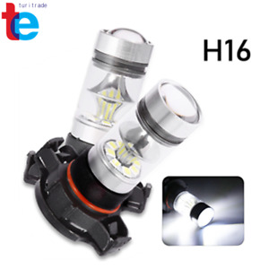 2x 5202 H16 Ps24w Cree High Power 100w 6000k Super White Led Fog Drl Lights Bulb