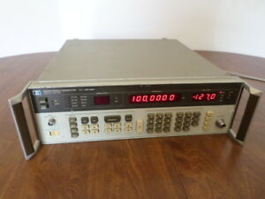 Hp Agilent Keysight 8656a Signal Generator 0 1 990 Mhz Tested Working