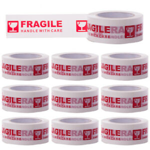10x Fragile Tape Handle With Care width 5cm length 100m ten Rolls