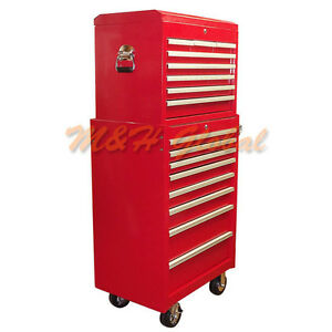 All Steel 16 Drawers 26 Industrial Roller Cabinet Box Set Tool Storage Case