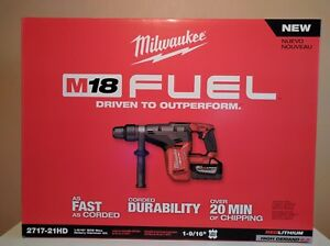 2717 21hd Milwaukee M18 Fuel 1 9 16 Cordless Rotary Hammer Drill New