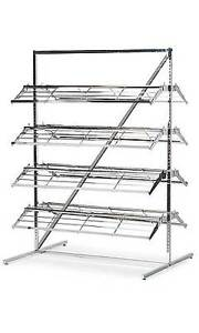 Shoe Merchandiser Display Holds 60 80 Pair Of Shoes New Rack Chrome 8 Shelves