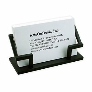 Artsondesk Modern Art Business Card Holder Bk301 Steel Black Patented Desk Name