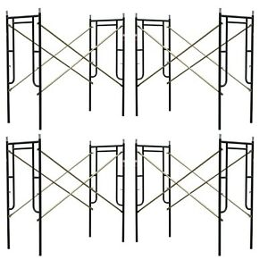 4 Set Of New 3 X 6 7 X 10 Plastering Masonry Scaffold Frame Set Cbm Scaffold