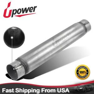 Upower 3 Inlet Outlet Muffler 3 5 Round 18 Body Length Aluminized